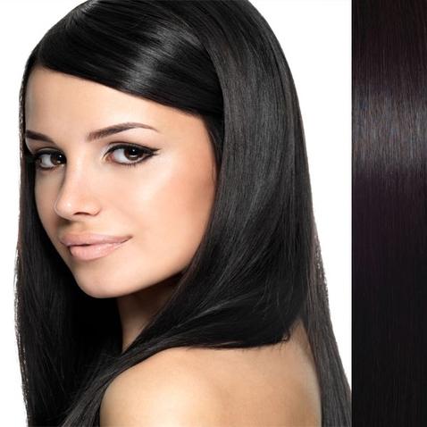 Clip in vlasy ľudské - Remy 105 g - pás vlasov - 1B - prírodná čierna