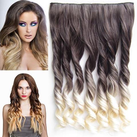 Clip in vlasy - pás, lokne - ombre - odtieň 4 T 613