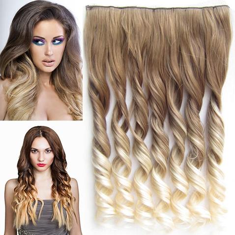 Clip in vlasy - pás, lokne - ombre - odtieň 10 T 613