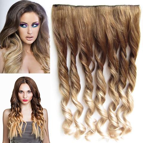 Clip in vlasy - pás, lokne - ombre - odtieň 10 T 16