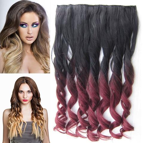 Clip in vlasy - pás, lokne - ombre - odtieň 2 T 99J