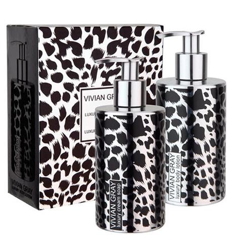 Darčeková sada VIVIAN GRAY Silver Safari - tekuté mydlo + telové mlieko 250 ml