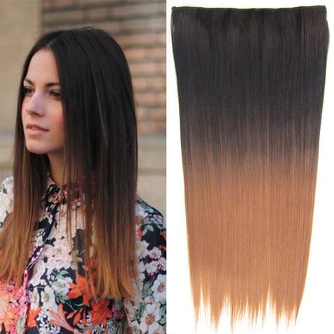 Clip in vlasy - rovný pás - ombre - odtieň 2 T 30