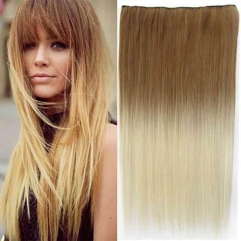 Clip in vlasy - rovný pás - ombre - odtieň 27 T 613