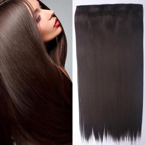 Clip in vlasy - 60 cm dlhý pás vlasov - odtieň 4