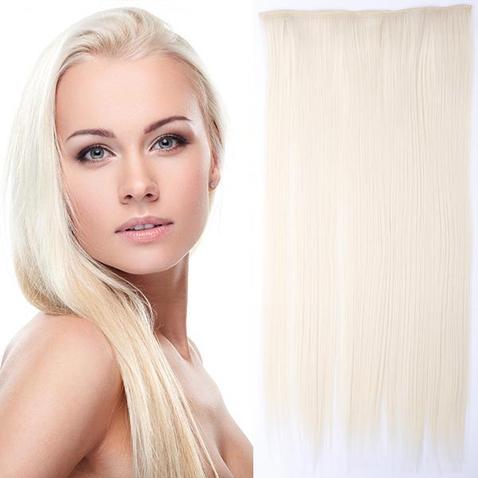 Clip in vlasy - 60 cm dlhý pás vlasov - odtieň F60/613