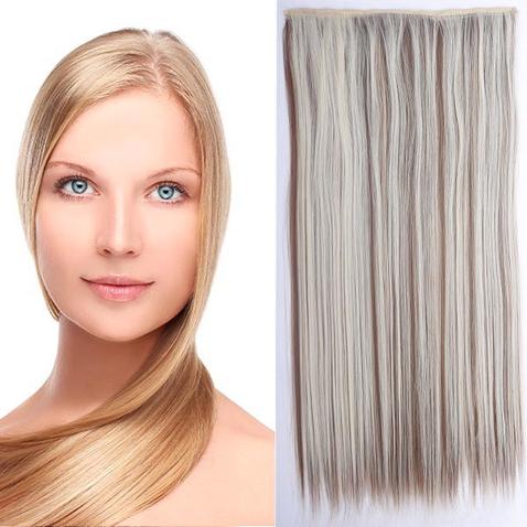 Clip in vlasy - 60 cm dlhý pás vlasov - odtieň F12/613