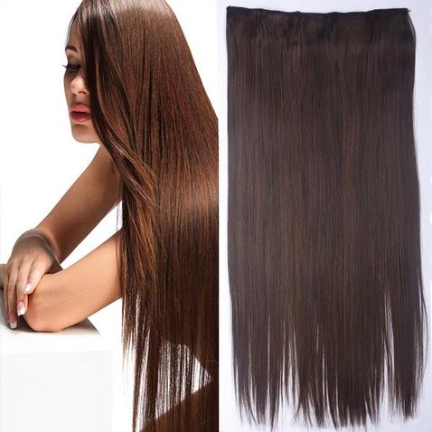 Clip in vlasy - 60 cm dlhý pás vlasov - odtieň M2/30