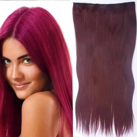 Clip in vlasy - 60 cm dlhý pás vlasov - odtieň 99J
