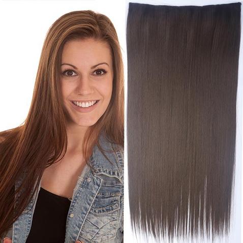 Clip in vlasy - 60 cm dlhý pás vlasov - odtieň 8