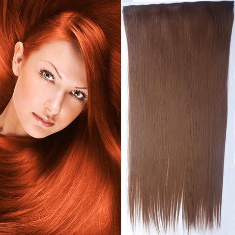 Clip in vlasy - 60 cm dlhý pás vlasov - odtieň 30