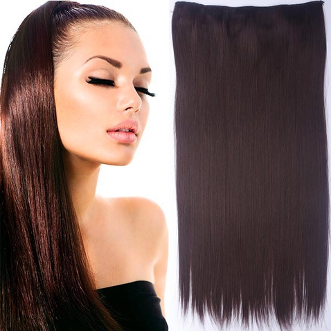 Clip in vlasy - 60 cm dlhý pás vlasov - odtieň M4/33