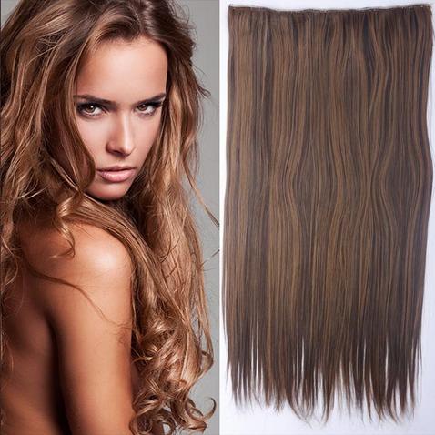 Clip in vlasy - 60 cm dlhý pás vlasov - odtieň F4/27