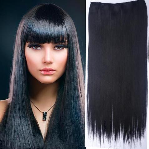 Clip in vlasy - 60 cm dlhý pás vlasov - odtieň 1B