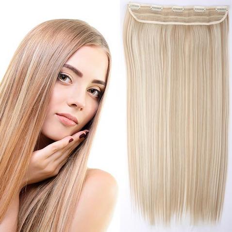 Clip in vlasy - 60 cm dlhý pás vlasov - odtieň F18/613