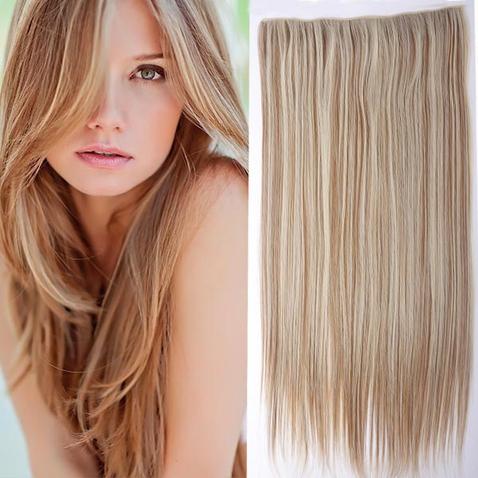 Clip in vlasy - 60 cm dlhý pás vlasov - odtieň F27/613