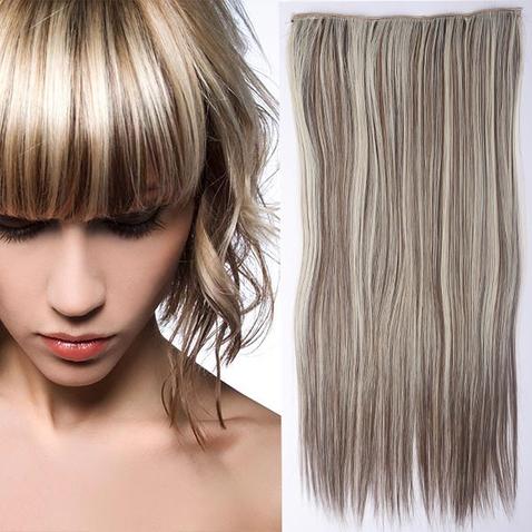 Clip in vlasy - 60 cm dlhý pás vlasov - odtieň F8/613