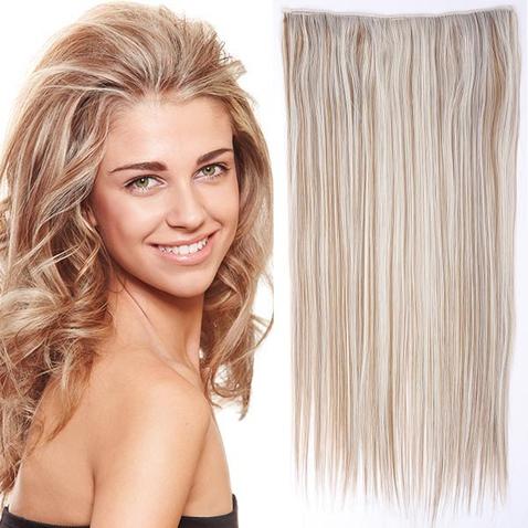 Clip in vlasy - 60 cm dlhý pás vlasov - odtieň F27/60