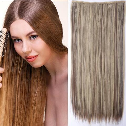 Clip in vlasy - 60 cm dlhý pás vlasov - odtieň F22/10