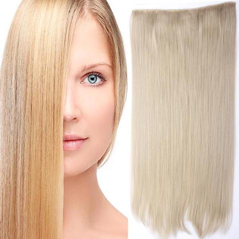 Clip in vlasy - 60 cm dlhý pás vlasov - odtieň 24