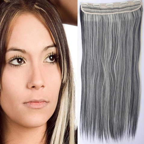 Clip in vlasy - 60 cm dlhý pás vlasov - odtieň 1B/613