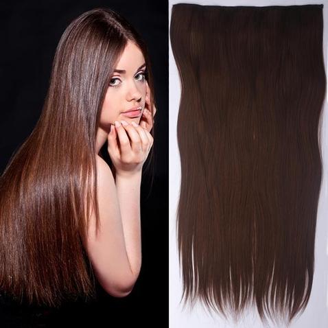 Clip in vlasy - 60 cm dlhý pás vlasov - odtieň M4/30