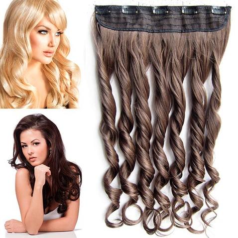Clip in pás vlasov - lokne 55 cm - odstín 2/30 - hnědá