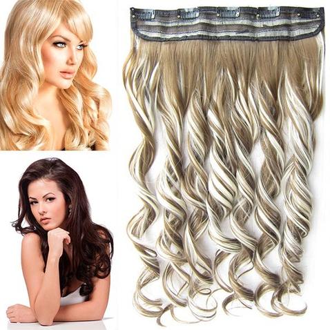 Clip in pás vlasov - lokne 55 cm - odtieň F613/6P - melír