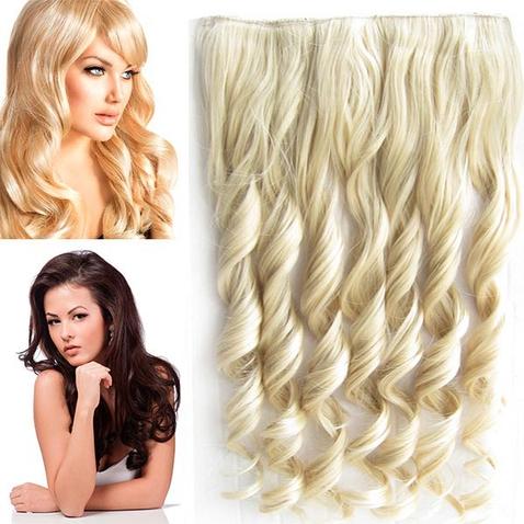 Clip in pás vlasov - lokne 55 cm - odtieň M22/613 - mix blond