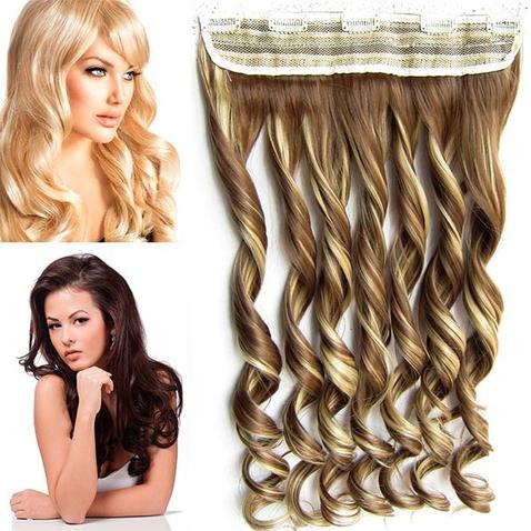 Clip in pás vlasov - lokne 55 cm - odtieň 10/22 - melír