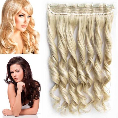 Clip in pás vlasov - lokne 55 cm - odtieň M24/613 - mix blond