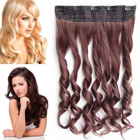 Clip in pás vlasov - lokne 55 cm - odtieň 33 - tmavý gaštan