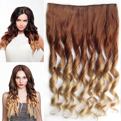 Clip in vlasy - pás, lokne - ombre - odtieň 30P T 24