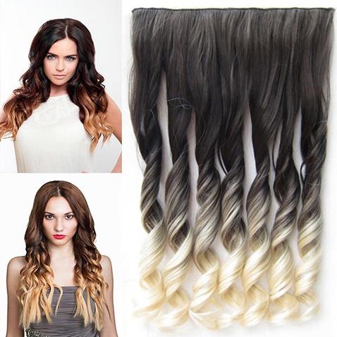 Clip in vlasy - pás, lokne - ombre - odtieň 2 T 613