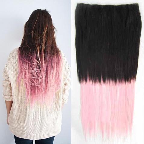 Clip in vlasy - rovný pás - ombre - odtieň 2 T Light Pink