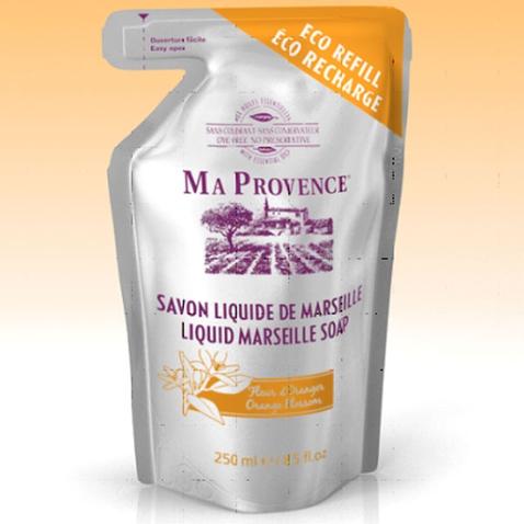 Bio mydlo tekuté Marseille Pomaranč - náhradná náplň 250 ml