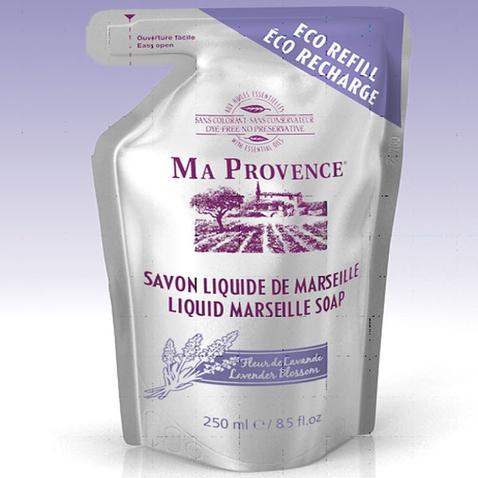 Bio mydlo tekuté Marseille Levanduľa - náhradná náplň 250 ml