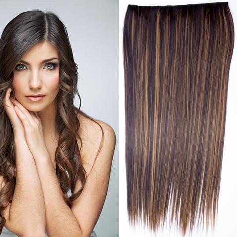 Clip in vlasy - 60 cm dlhý pás vlasov - odtieň F2/27