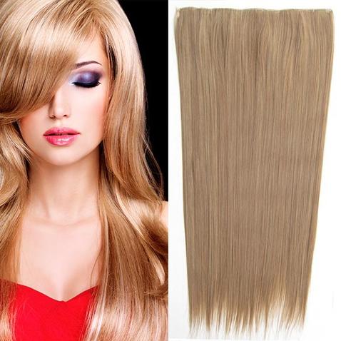 Clip in vlasy - 60 cm dlhý pás vlasov - odtieň M12/24