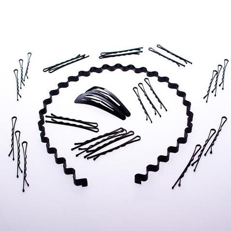 Vlasový set - čelenka + vlasové sponky