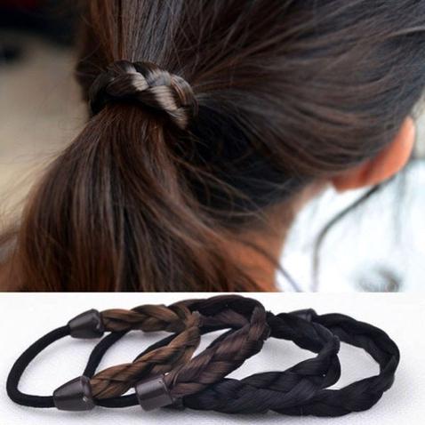 Gumička do vlasov s pletenými vlasmi