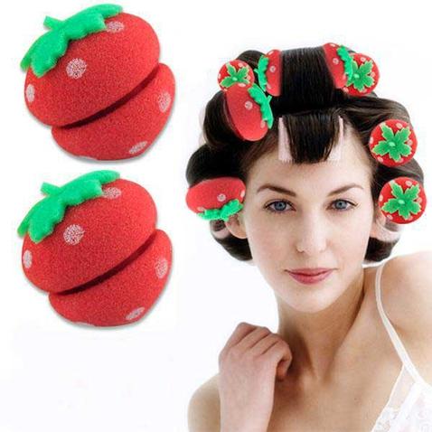 Sada 12-tich penových natáčok - jahody
