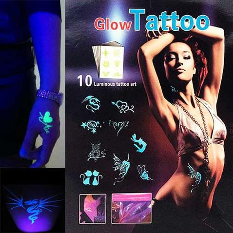 Svietiace tattoo - nalepovacie tetovanie