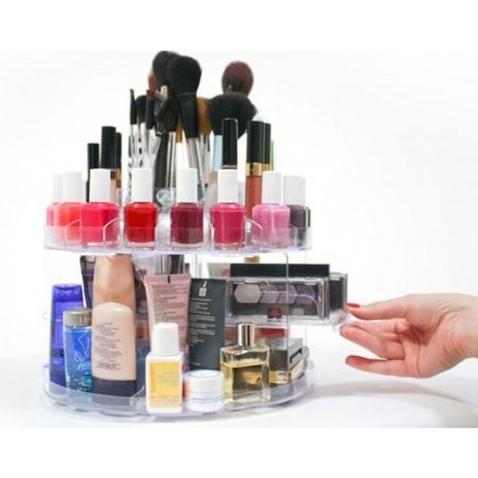 Otočný organizér na kozmetiku