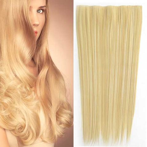 Clip in vlasy - 60 cm dlhý pás vlasov - odtieň F613/22