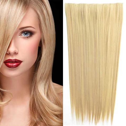Clip in vlasy - 60 cm dlhý pás vlasov - odtieň F16/22