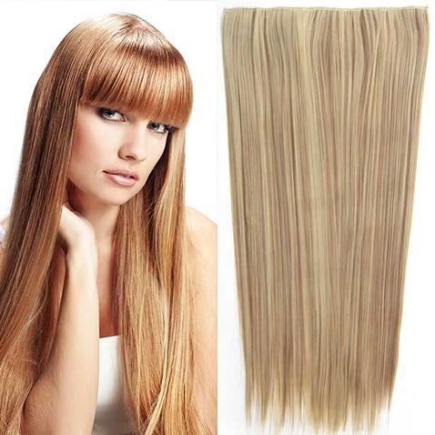 Clip in vlasy - 60 cm dlhý pás vlasov - odtieň F12/24