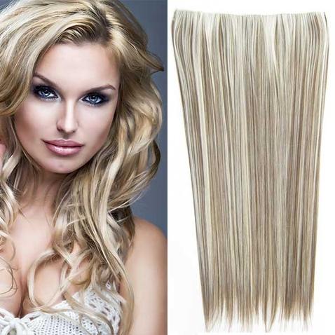 Clip in vlasy - 60 cm dlhý pás vlasov - odtieň F9/613
