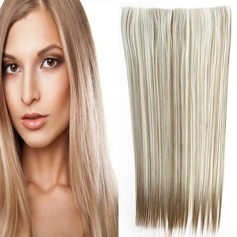 Clip in vlasy - 60 cm dlhý pás vlasov - odtieň F6P/613