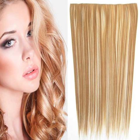 Clip in vlasy - 60 cm dlhý pás vlasov - odtieň F613/27